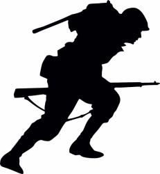 Samolepka na auto Americký voják 1, výška samolepky 8cm