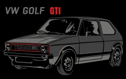 Tričko VW Golf GTI